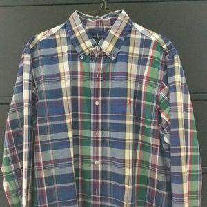 Ralph Lauren Polo Long Sleeve Plaid Size L